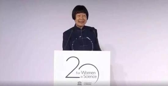 张弥曼院士荣获世界杰出女科学家成就奖