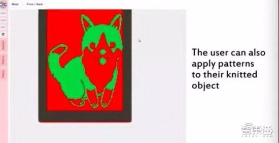 ▲通过该系统,用户可以使用模板来调整图案和形状以私人定制图案