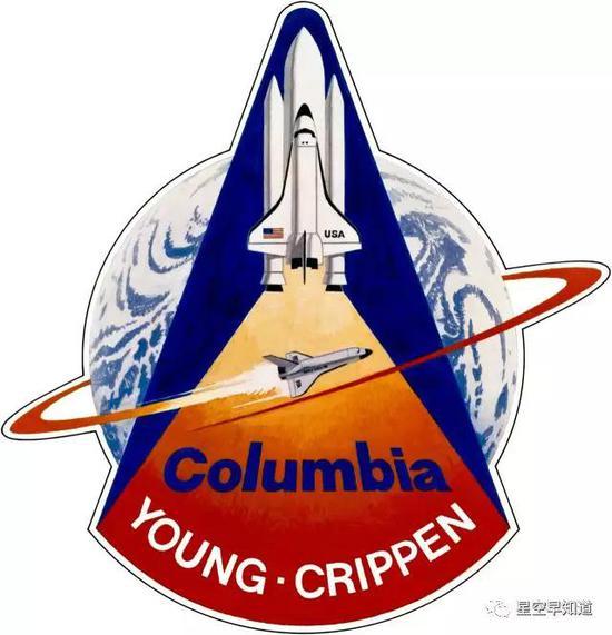 首次航天飞机任务STS-1任务徽标来源:NASA