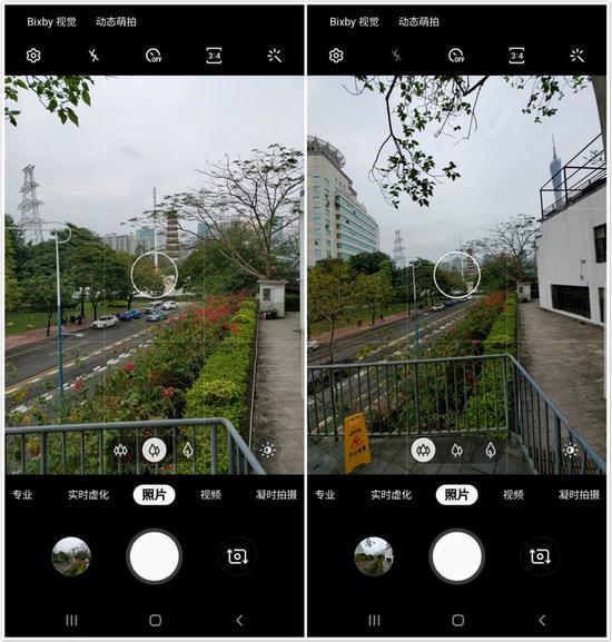 ▲ 主摄像头(左)与超广角镜头(右)