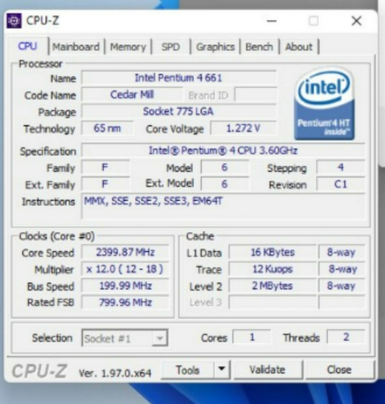 15年前的奔腾4处理器支持Win11升级,因为不在不受支持的CPU列表中