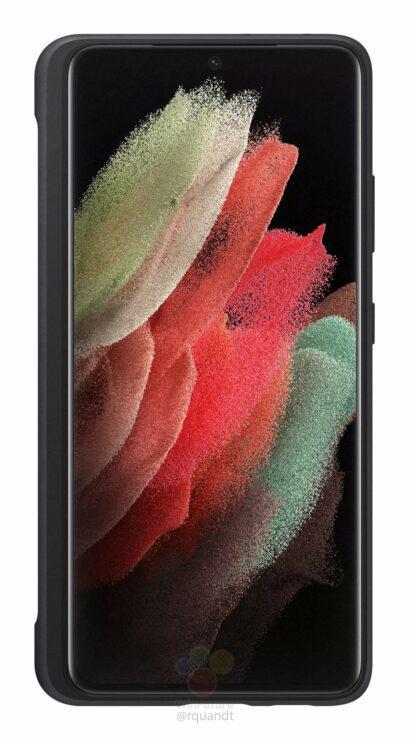 手机壳渲染图展示了Galaxy S21 Ultra如何收纳S Pen手写笔