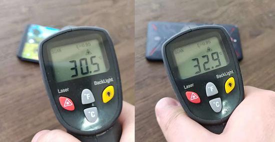 ▲温度测试