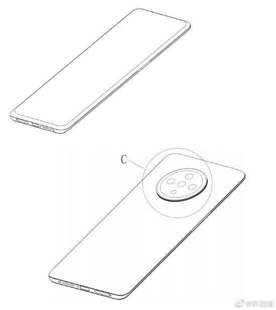 OPPO申请手机外观专利:或是Ace2迭代版用屏下镜头
