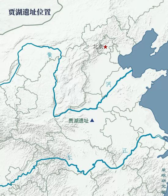 (贾湖位置,制图@郑伯容/星球研究所;中国是世界上最早的家猪独立驯化中心之一,贾湖遗址是目前中国已知最早的家猪出土地点,距今9000年,家猪实际的驯化时间可能更早;除了捕获,猪的驯化还有可能是通过共生进行的)