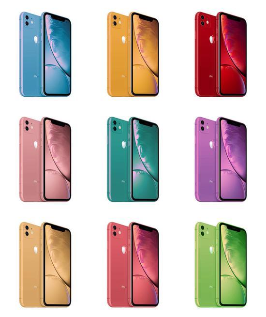 "iPhone新""彩虹""配色太惹眼 竟有点好看"