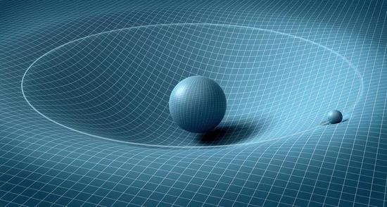 廣義相對論認為引力來自時空的彎曲