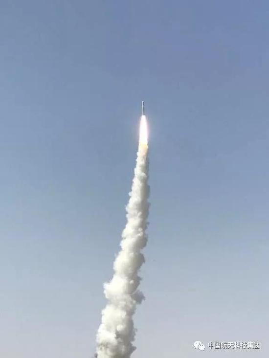 长征十一号火箭成功发射(魏凯 摄)