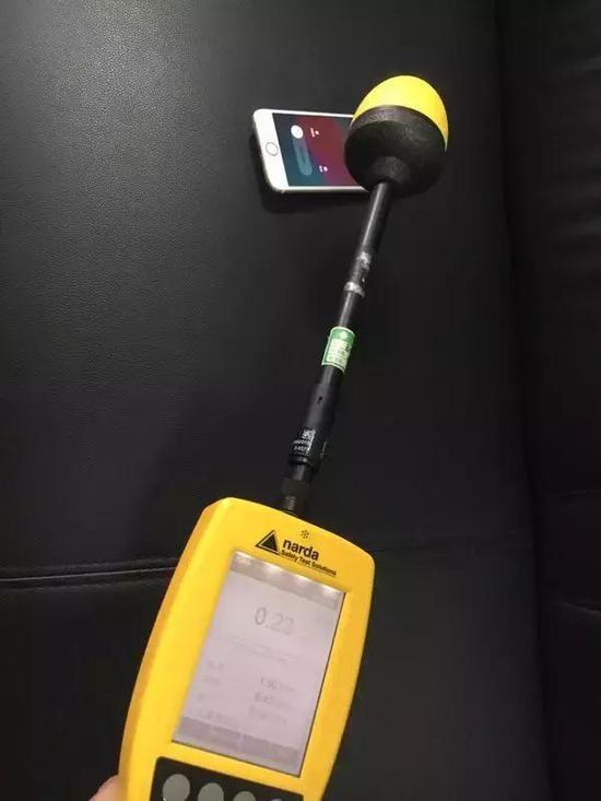 使用仪器测试手机辐射