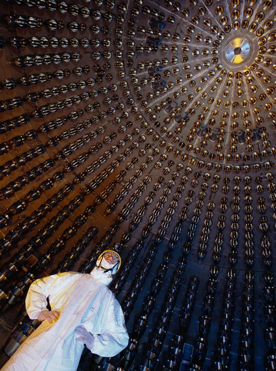 Borexino中微子探测器内部