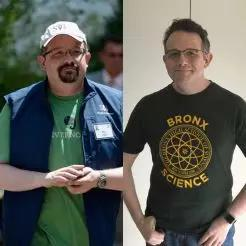 (Phil Libin减重前后对比,图片来源于美联社)