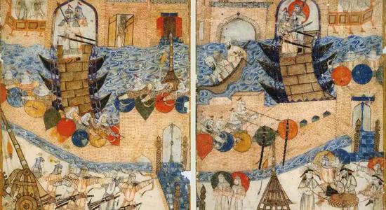 旭烈兀围攻巴格达(插画),1258年