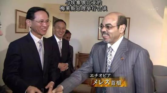 中兴董事长侯为贵(左二)拜访埃塞首相