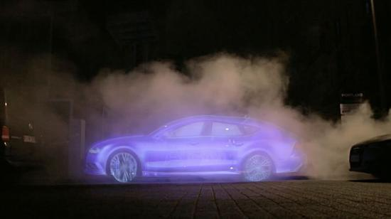 ▲水雾投影目前效果并不理想