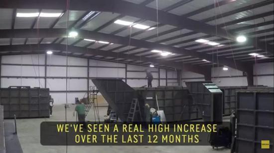 Rising制造的掩体,最高规格的掩体售价达1千万美元(图片来自YouTube)