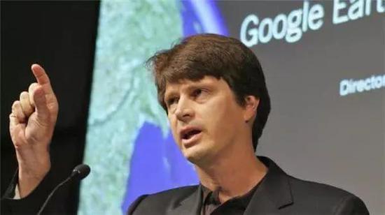 Keyhole 后被谷歌收购,图为 Keyhole 创始人约翰・汉克