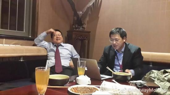 ▲林宇(左)和史文勇(右)当年合照。