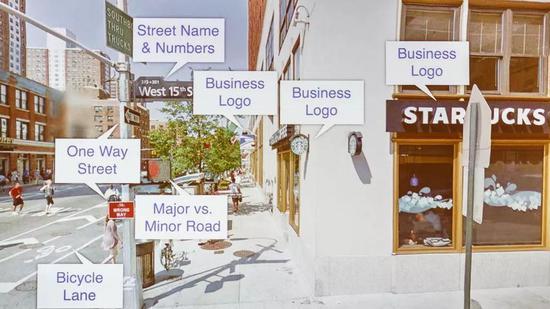 Google的算法可以从街景照片中识别出各种对象。来源:CNET