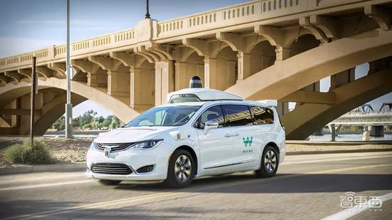 ▲在公开道路测试的Waymo无人车