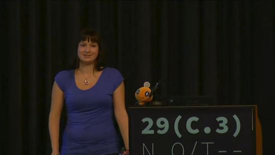 娜塔莉·西尔瓦诺维奇在29C3(CCC的年度大会)上
