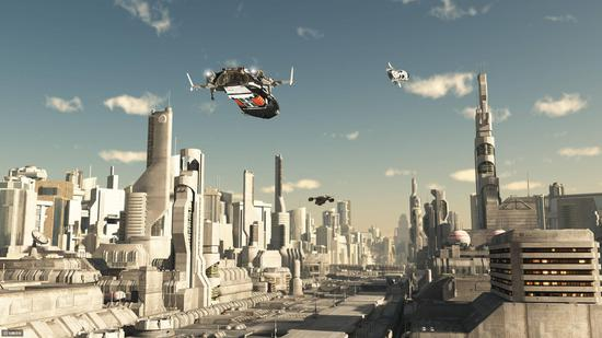 人们幻想的未来城市〡站酷海洛