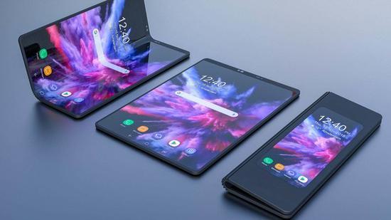 理想中的折叠屏手机(图片来自微博www.weibo.com)