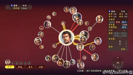 在最新版的三国志游戏中,每个人都形成了自身的关系网