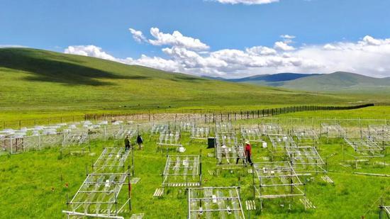 图4 青藏高原海北站野外增温实验平台(图片由贺金生老师提供)