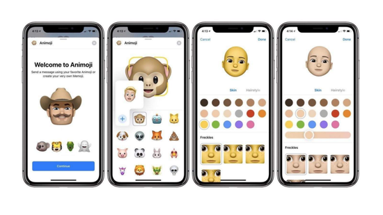 iPhone X的Animoji功能即利用表情捕捉技术制作表情包