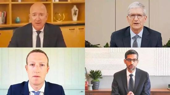 美国四大科技企业7月29日参加视频听证会