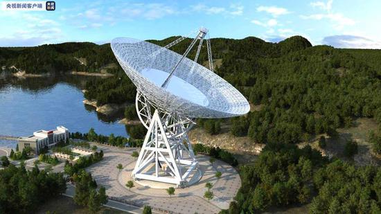 云南景东120米脉冲星射电望远镜 规划设计图