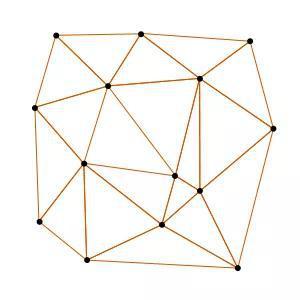 图7。 平面的捷洛内三角划分