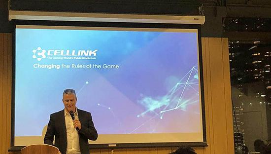 Cell Link CEO Hal Bame在路演现场。摄影:王付娇