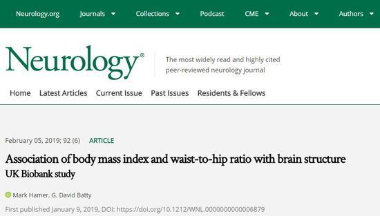 最新研究表明:肚子越大,脑子越小腹部脂肪内脏脂肪肚子