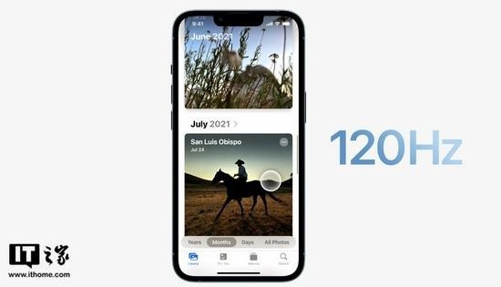 iPhone 13 Pro加入高刷,三星:我们支持120Hz刷新率有一段时间了