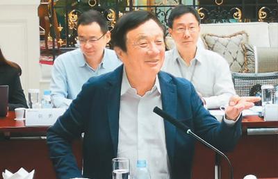 5月21日,华为公司创始人、CEO任正非在深圳华为总部接受媒体采访。   新华社记者 白 瑜摄