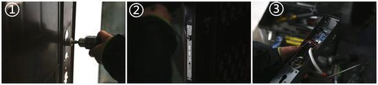 拆除旧锁-门体改造-安装锁芯-把手换向