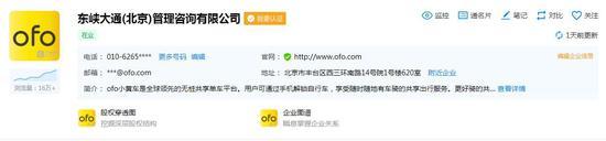 東峽大通(北京)管理諮詢有限公司的基本信息。來源於企查查 截圖