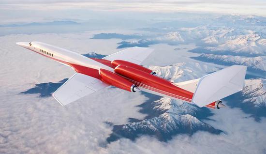 Aerion AS2超音速科技飞行想象图