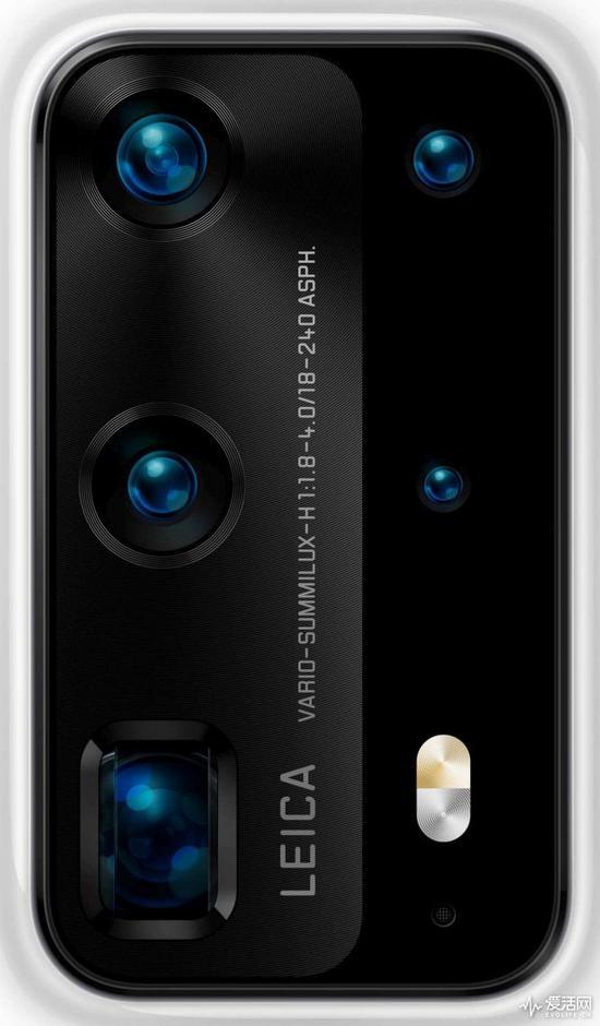 华为P40 Pro渲染图曝光 五个摄像头零谷歌应用