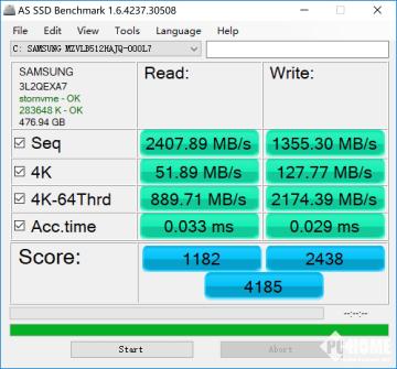 AS SSD固态硬盘测试