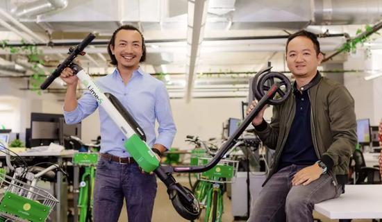 左为Lime联合创始人兼董事长鲍周佳,右为Lime联合创始人兼CEO孙维耀。来源:被访者供图