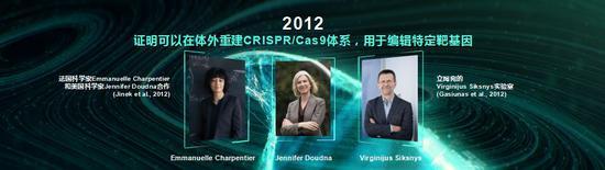 基因編輯技術CRISPR/Cas9技術發現的三位先驅