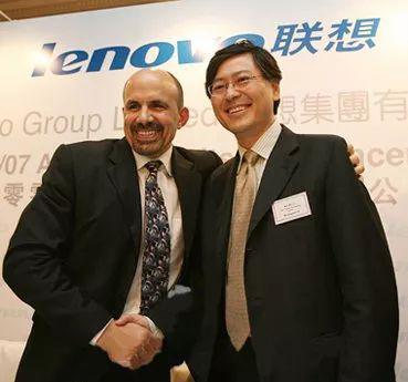 图:曾任联想CEO的阿梅利奥与董事长杨元庆