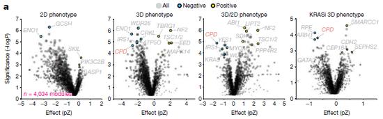 图2不同培养模型中引起表型的基因