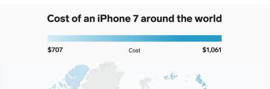 苹果iPhone 7全球售价一览:美国最便宜