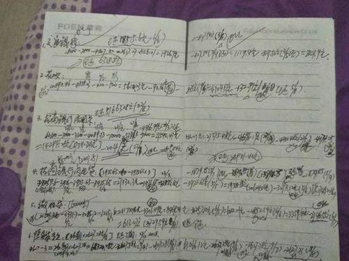 劉興旺記錄應還款項的筆記 受訪者供圖