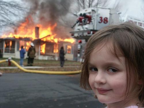 """万物皆可NFT 美国""""灾难女孩""""表情包卖出50万美元"""