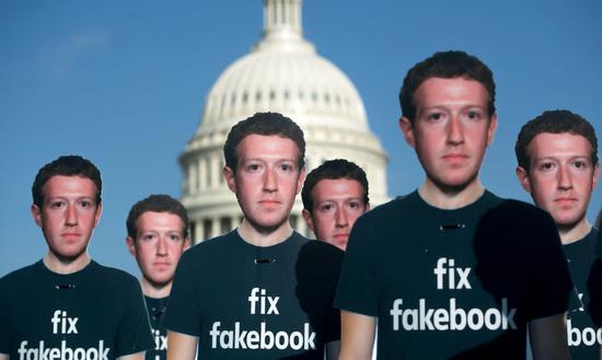 人们对 Facebook 的抗议