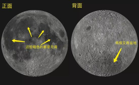 LRO全月拼接影像。图片来源:NASA